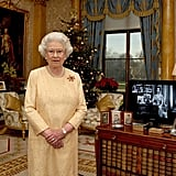 Queen Elizabeth II filmed her Christmas Day message in Buckingham Palace in 2007.