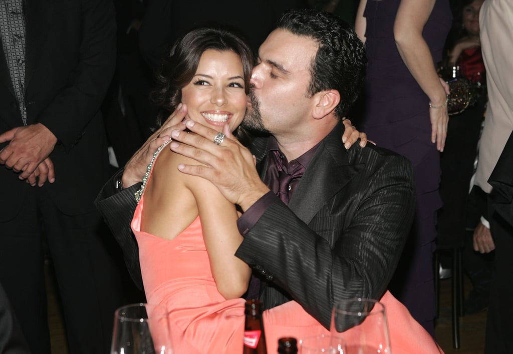 Eva Longoria and Ricardo Chavira at the 2005 Emmy Awards