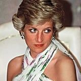 Princess Diana Wearing Blue Eyeliner in 1990