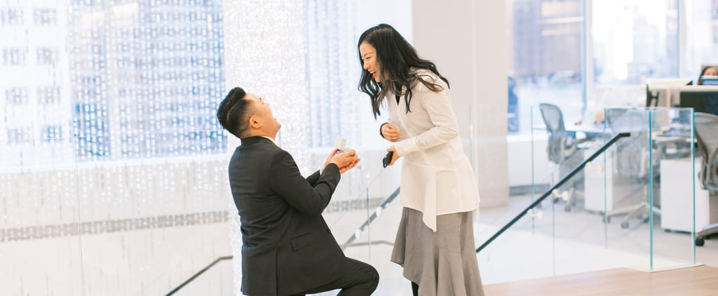 Man Proposes After Breaking Both Legs
