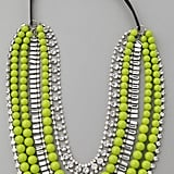 """Talk about making a statement — this necklace will make any outfit pop, and I hope to wear it with collared blouses and loose-fitting shirtdresses all Spring and Summer long."" — Marisa Tom, associate editor  Adia Kibur Multi-Strand Neon Bead & Crystal Necklace ($174)"