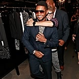 Usher and Justin Bieber horsed around on Fashion's Night Out.