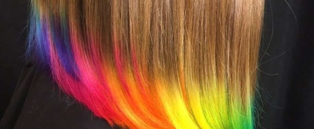 Neon Dip Dye Hair
