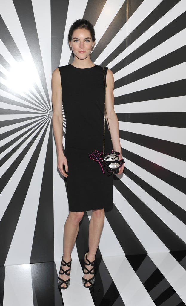 Hilary Rhoda proved the power of a great LBD at the NYC celebration of Jimmy Choo's latest collaboration.