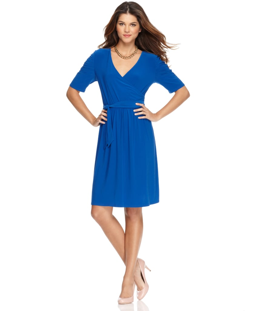 On your most hectic morning, NY Collection's wrap dress ($30, originally $58) is the smartest thing you can grab. It flatters all shapes and works equally well for a Monday or Friday.