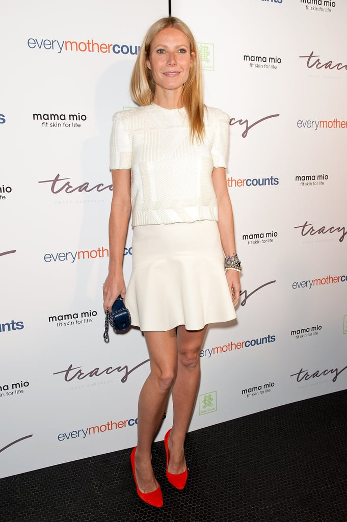 Gwyneth Paltrow wore white to an event in NYC.