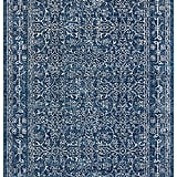 5'x7' Modern Rich Detailed Rug in Dark Blue ($149)