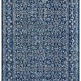 Modern Rich Detailed Rug in Dark Blue