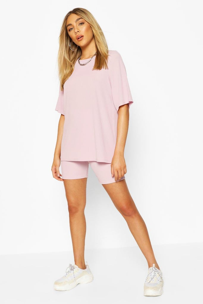 Oversized T-Shirt & Cycling Short Co-ord Set