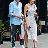Dua Lipa's Polka-Dot Dress With Slit NYC