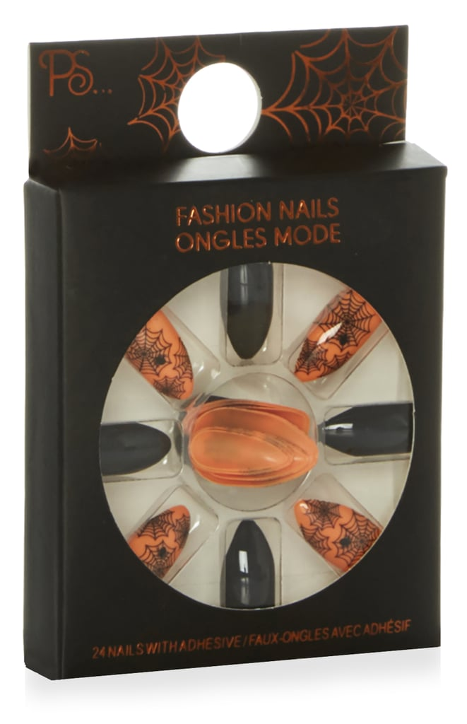 Orange and Black Halloween Nails ($2) | Primark Halloween ...
