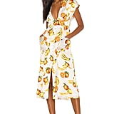 Song of Style Sia Midi Dress in White Fruit from Revolve.com