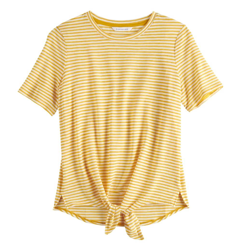 The Stripe: A Tie-Front T-Shirt