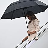 Melania Later Deboarded the Plane With a Different Jacket