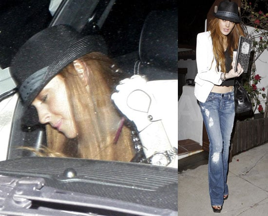 Photos of Lindsay Lohan Leaving Samantha Ronson's House in LA 2009-05-06 11:00:30