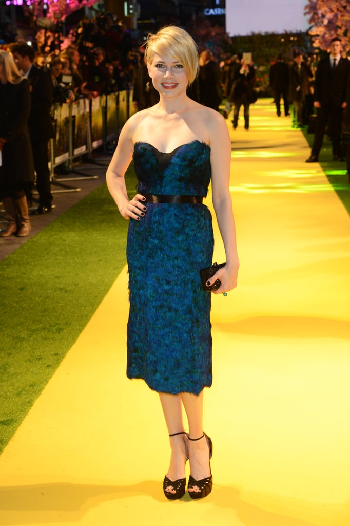 Michelle Williams hit the yellow brick road in London.