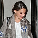 Katie Holmes smiled while out in NYC.
