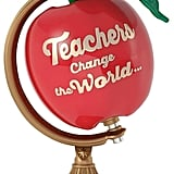Hallmark Teachers Change the World Apple Globe 2017 Keepsake Christmas Ornament