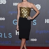 Allison Williams walked the red carpet.