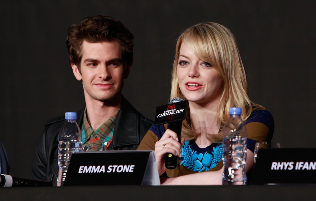 During a The Amazing Spider-Man press conference in South Korea, Emma Stone wore Jennifer Meyer's gold ring. Though her exact one isn't available, shop other Jennifer Meyer rings here.