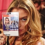 All-access pass! Stella Maxwell flashes her credentials.