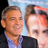 George Clooney took questions at a press event.