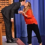 When They Shared a Sweet Kiss on The Tonight Show in 2014