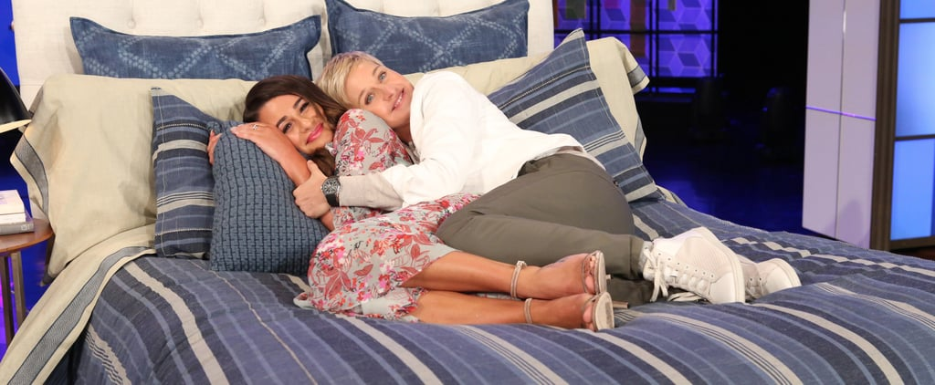 Lea Michele Hops Into Bed With Ellen DeGeneres (and Some Duct Tape)