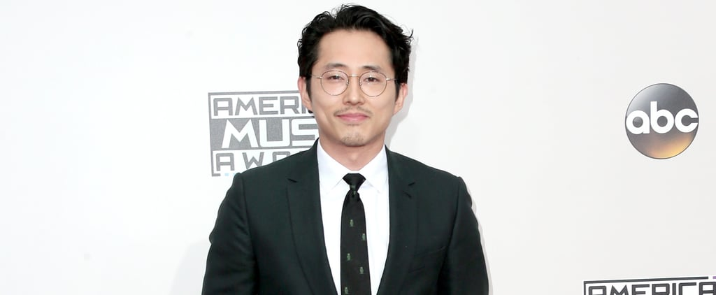 Steven Yeun at the American Music Awards 2016