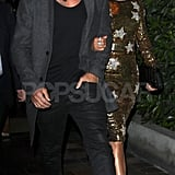 Jennifer Lopez and Casper Smart dined out following American Idol's live episode.