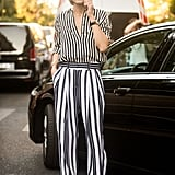 Olivia Palermo proves once again she's a trendsetter in a striped ensemble.