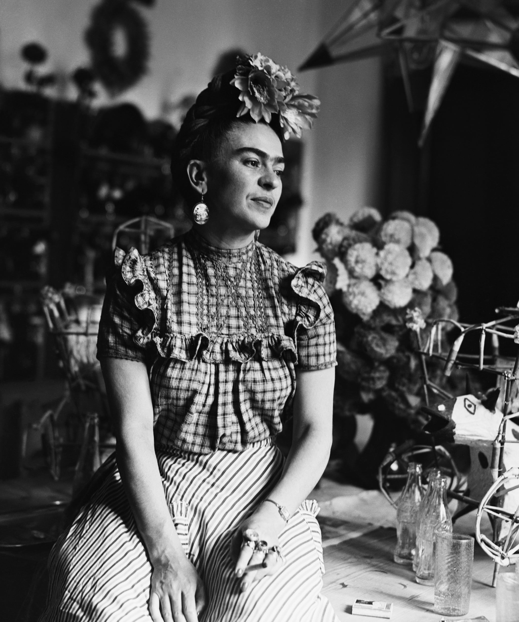 (Original Caption) 1944: Photograph of Frida Kahlo (1910-1954), Mexican painter and wife of Diego Rivera.