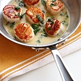 Gluten-Free: Seared Scallops in White Wine Butter Sauce