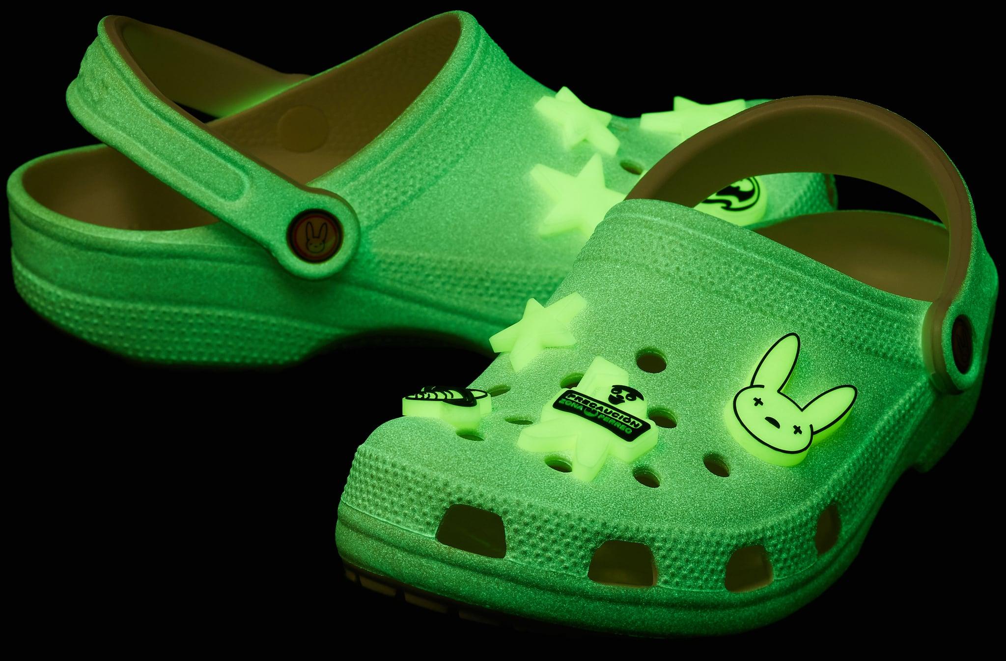 revolución ángulo Fraseología  Bad Bunny's Glow-in-the-Dark Crocs Collaboration   POPSUGAR Fashion UK