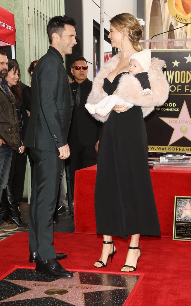 Adam Levine and Baby Dusty at Hollywood Walk of Fame 2017