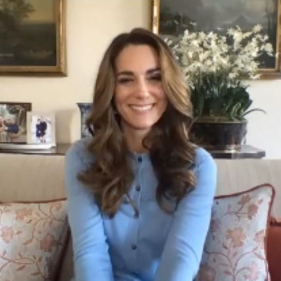 Kate Middleton's Blue Cardigan in Hold Still Video Call 2020