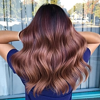 Rose Brown Hair Colour