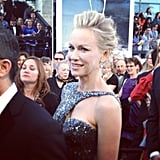 Naomi Watts glowed on the Oscars red carpet. Source: Instagram user theacademy