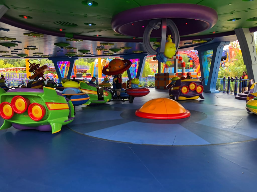 The inside of Alien Swirling Saucers.