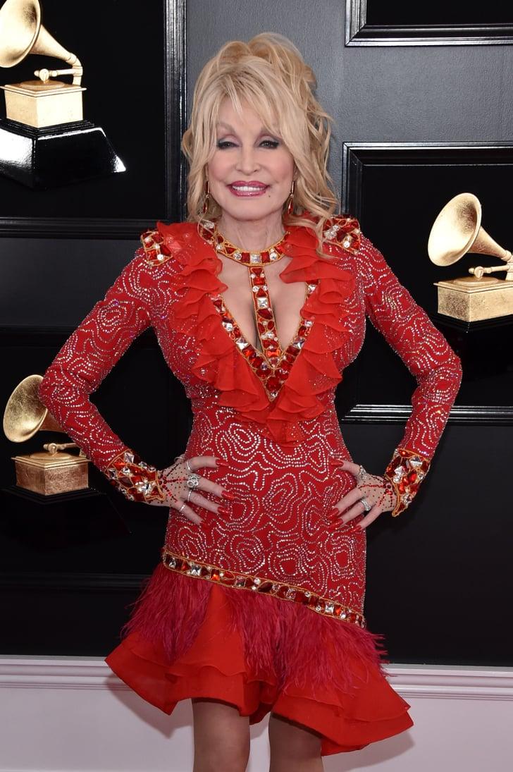 Dolly Parton At The 2019 Grammys Popsugar Celebrity