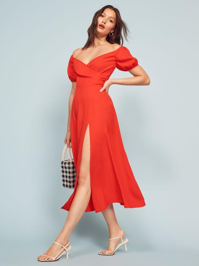 Reformation Pearl Dress Best Strapless Dresses