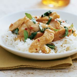 Fast & Easy Dinner:  Thai Chicken with Basil