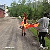 Nina Dobrev shared a behind-the-scenes snap from her Cosmopolitan photo shoot. Source: Nina Dobrev on WhoSay