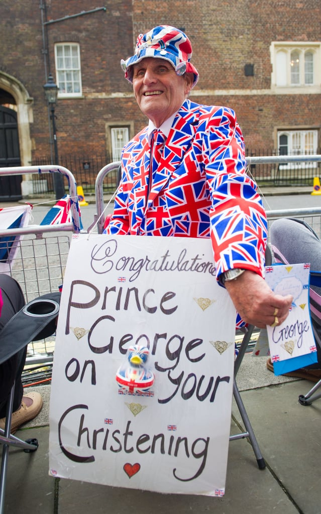 A royal fan prepared for the royal christening.
