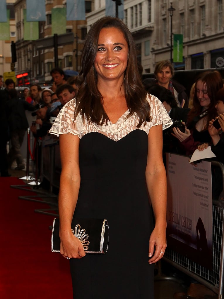 Pippa Middleton looked stunning in a black dress.