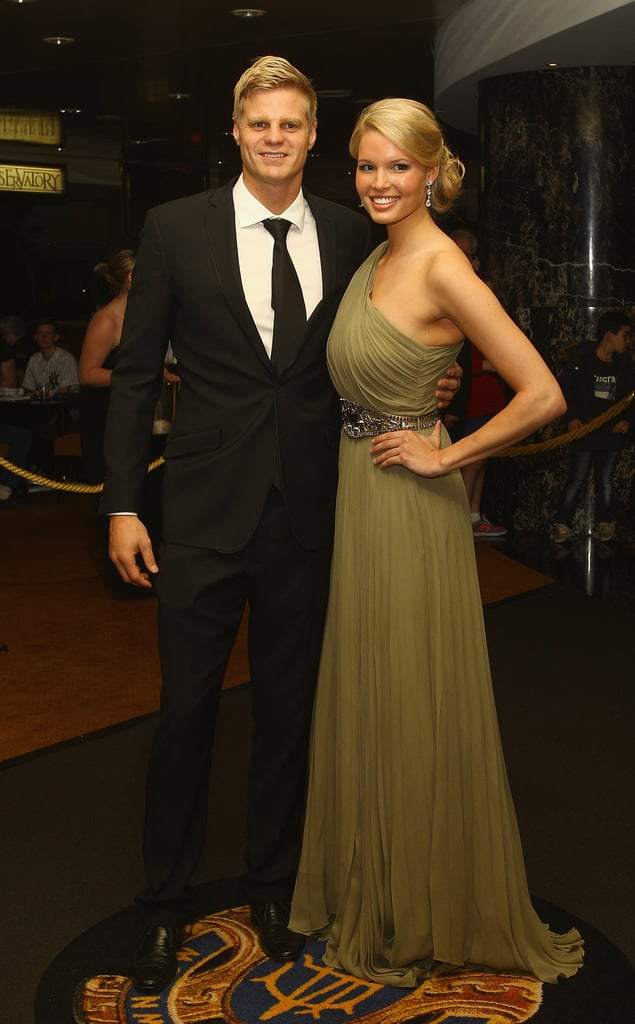 Nick Riewoldt and Cath Heard