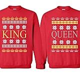 Christmas King and Queen Couples Crewnecks