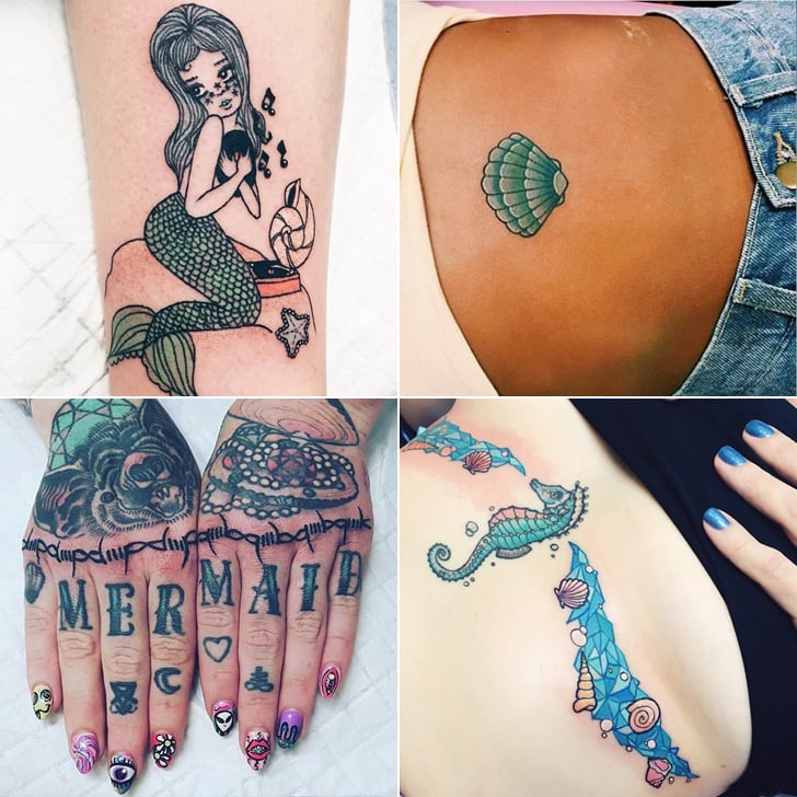 26 Pretty Tattoos Fit For a Real-Life Mermaid