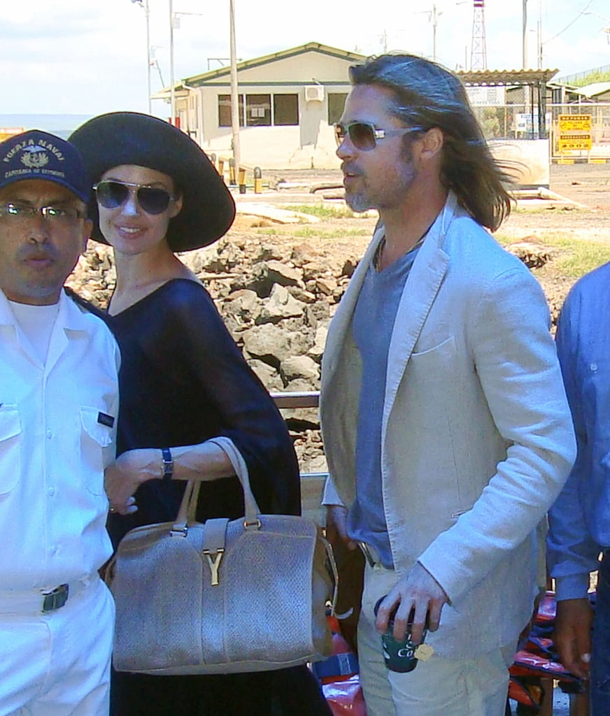 Angelina Jolie and Brad Pitt made their way home from the Galapagos Islands with their kids in April.