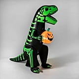 LED Green Dinosaur Inflatable Halloween Decoration